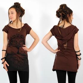 "\""Aran\"" dress, Brown"