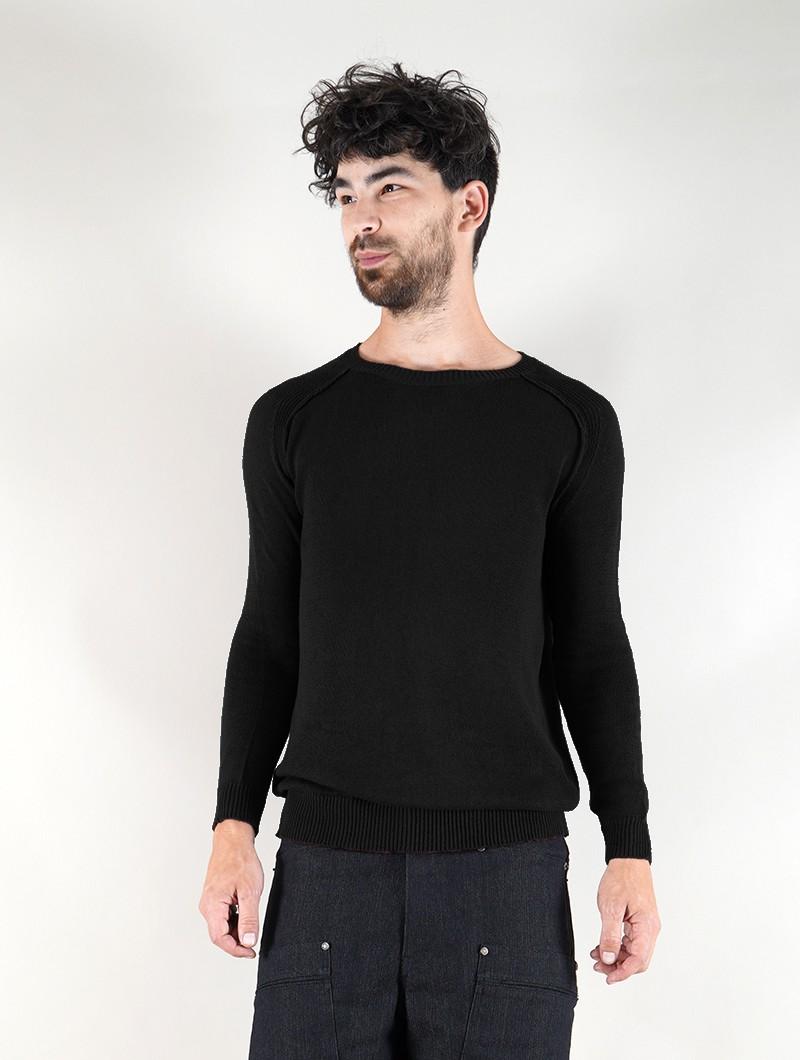 "\""Arga\"" cotton sweater, Black"