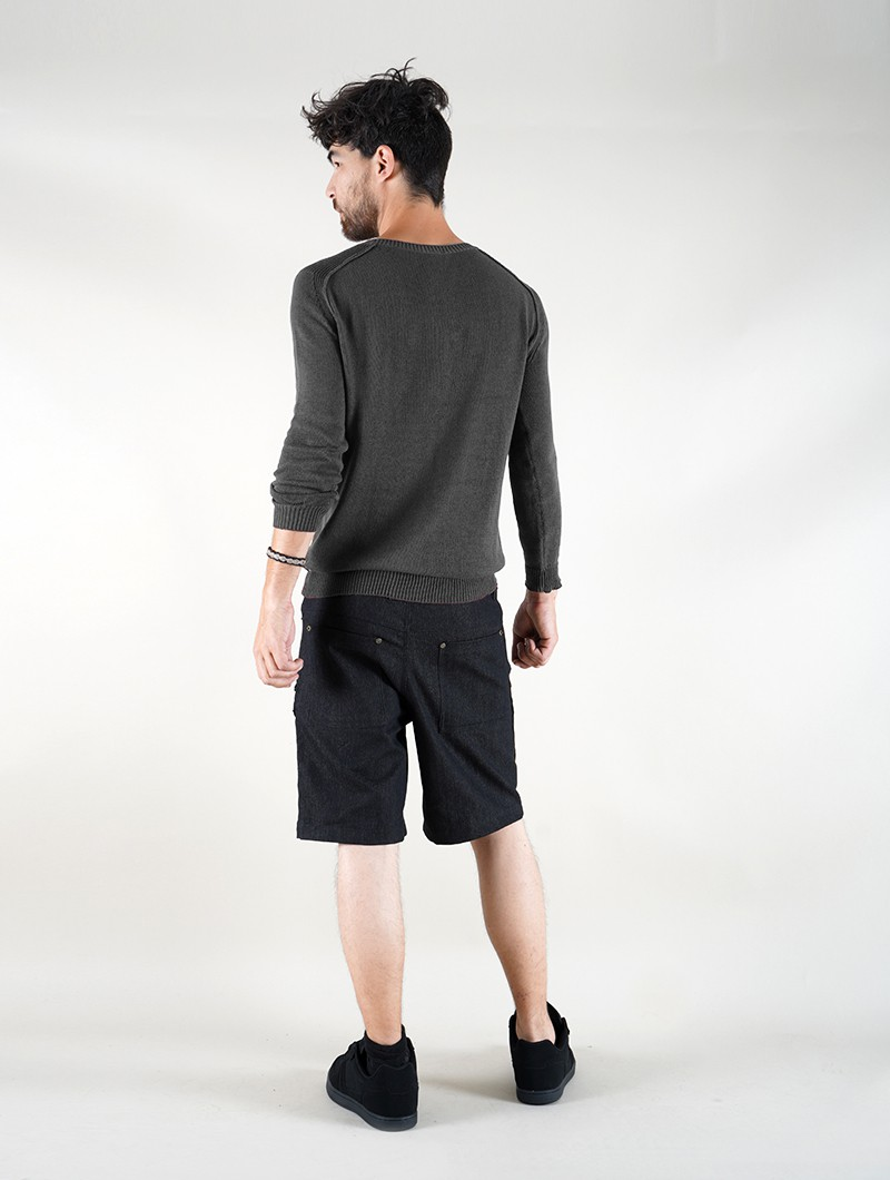 """Arga\"" cotton sweater, Dark grey"