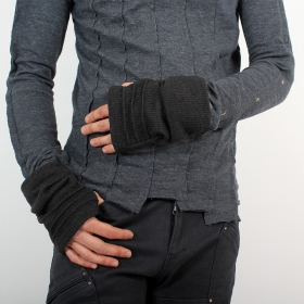 "Arm warmers for men ""MadMaxx\"", Grey"