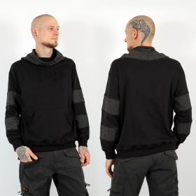 """Arrakis Swastika\"" hoodie, Black and Grey"