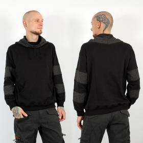 "\""Arrakis Swastika\"" hoodie, Black and Grey"