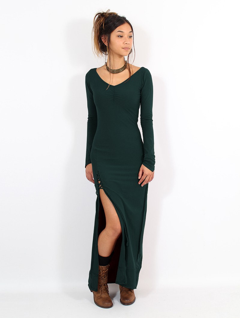 "\""Aryäa\"" dress, Peacock teal"