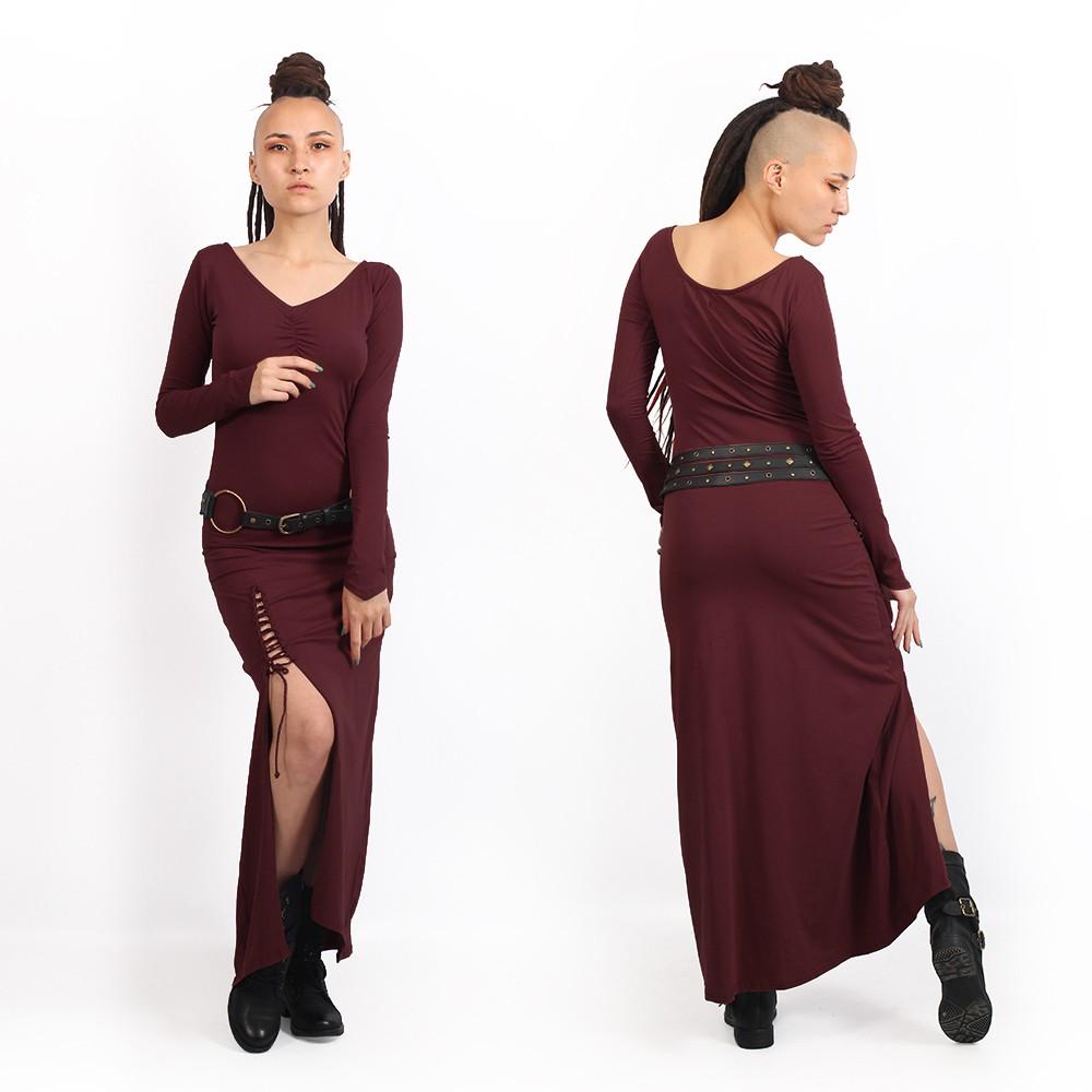 "\""Aryäa\"" dress, Wine"