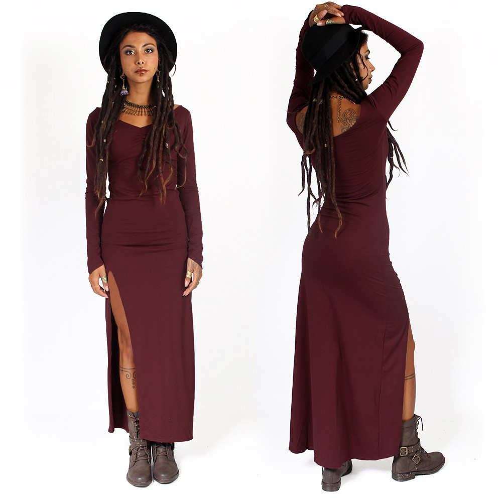 "\""Aryäa\"" dress without lacing, Wine"