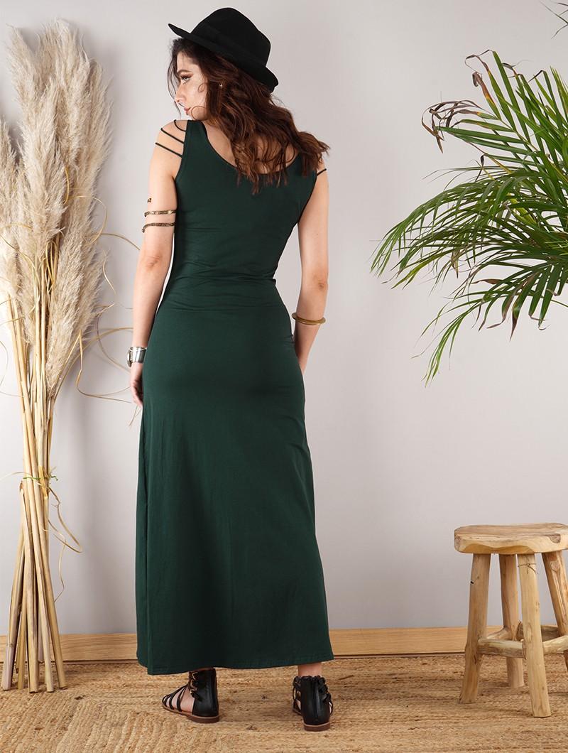 "\""Aryäa\"" sleeveless dress, Peacock teal"