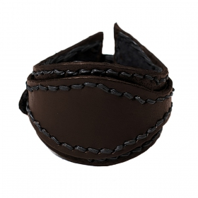"""Aryaman\"" leather bracelet, Brown"