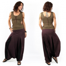 """Aslesha\"" harem pants, Plum and black"