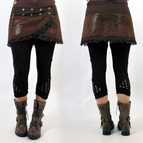 "\""Aswad\"" short leggings, Black"