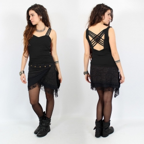"""Atheia\"" strap top, Black"
