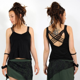"""Atheia\"" top, Black"