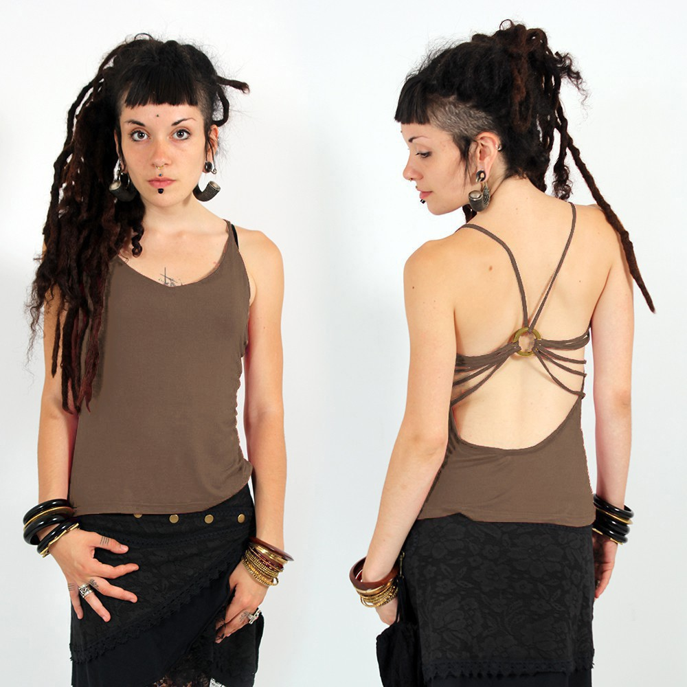 """Athit\"" top, Taupe"