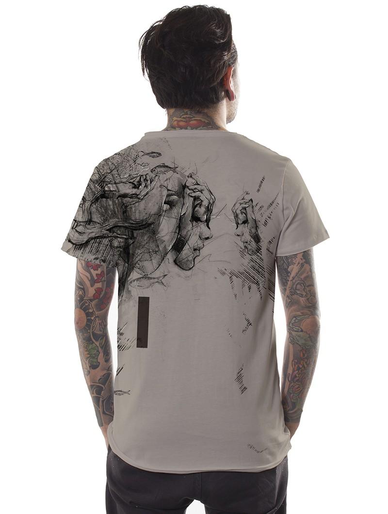 "\""Atlantis\"" t-shirt, Beige"
