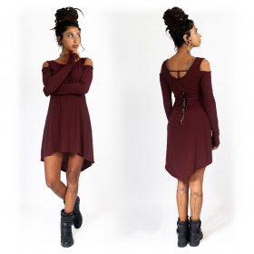 """Atsuka\"" tunic dress, Wine"