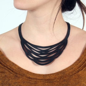 """Autumn\"" inner tube necklace"