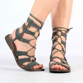 "\""Avani\"" sandals, Khaki"