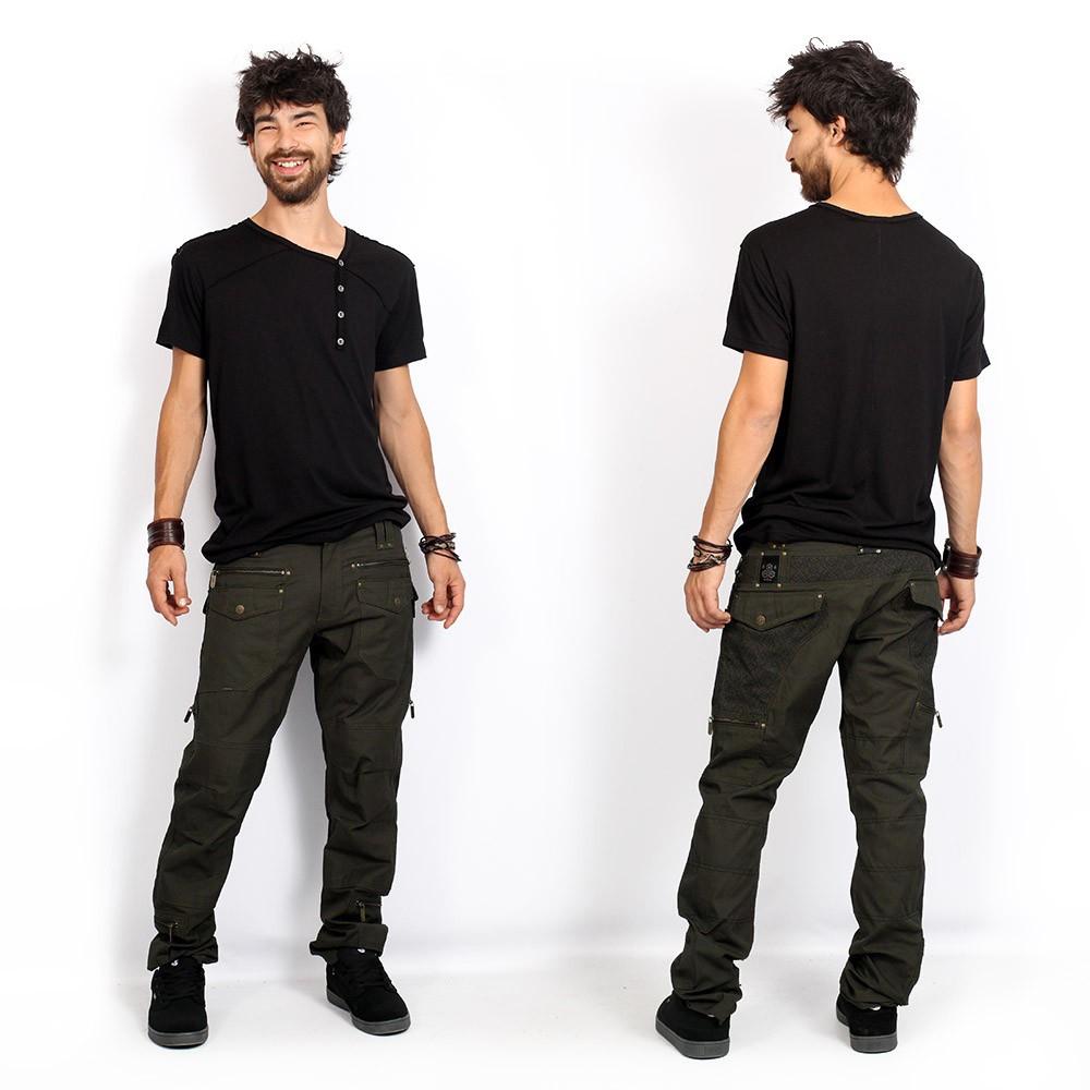 "\""Awakke\"" pants, Dark olive green"