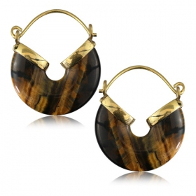 """Ayada tiger eye\"" earrings"