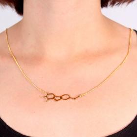 "\""Ayahuasca\"" small pendant necklace, Harmine molecule"