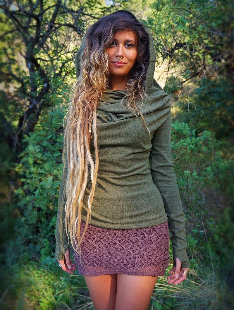 "\""Ayüuki\"" crochet skirt, Brown"