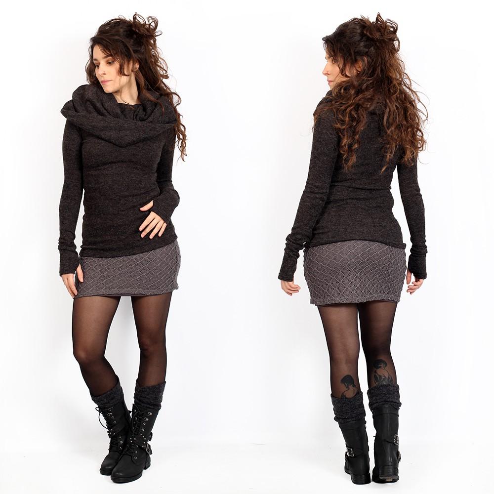 "\""Ayüuki\"" crochet skirt, Grey"