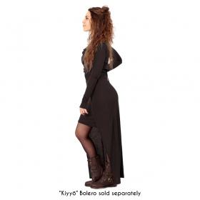 """Azeälya"" long dress, Brown"