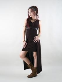 "\""Azeälya\"" long dress, Brown"