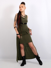 "\""Azeälya\"" long dress, Khaki green"