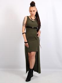 "\""Azeälya\"" long dress, Khaki"