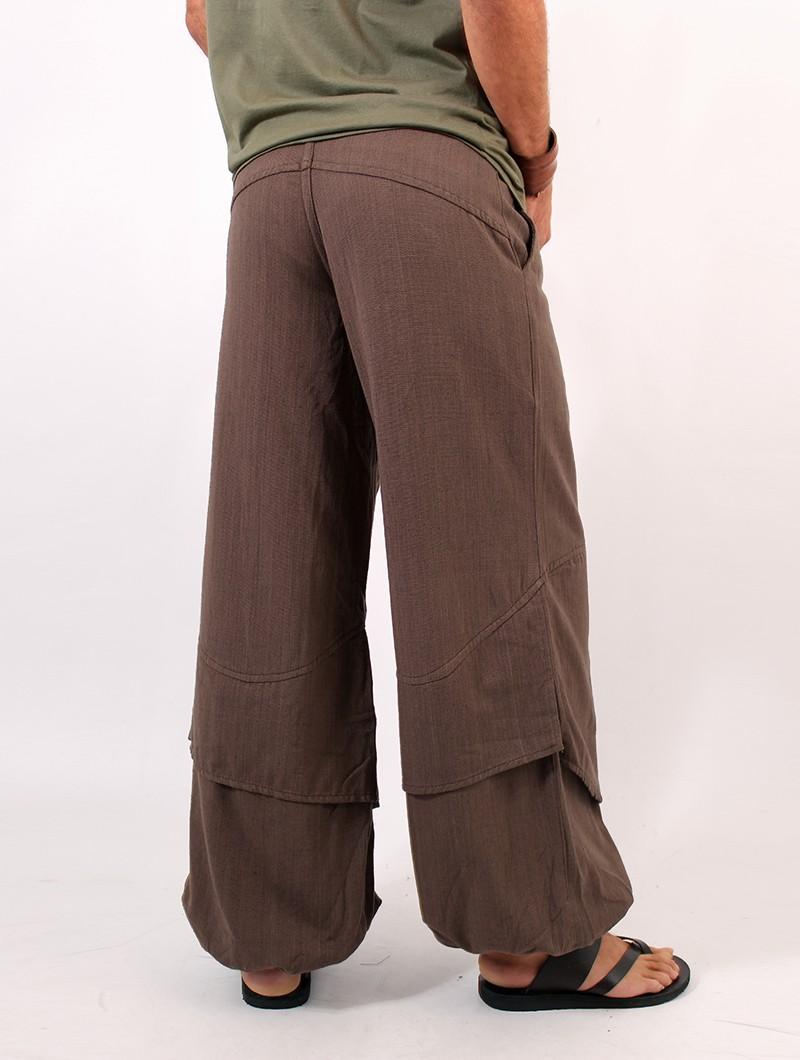 "\""Azim\"" harem pants, Brown"
