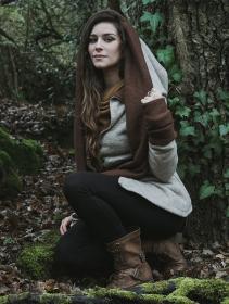 "\""Azmäe\"" coat, Beige and brown"