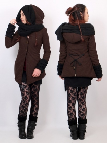 """Azmäe\"" lined jacket, Brown and black"