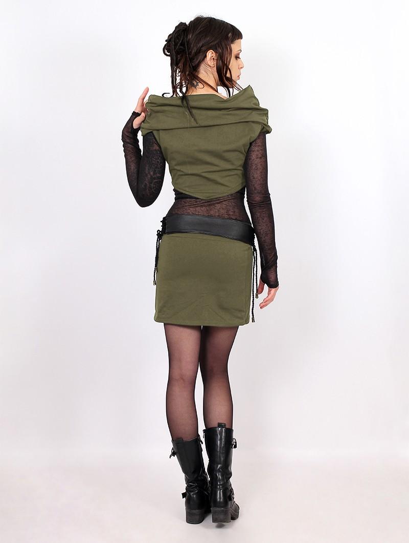 "\""Azmiyäa\"" dress, Army green"