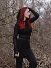 "\""Azmiyäa\"" dress, Bi-fabric black"