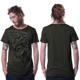 "\""Azone\"" t-shirt, Dark khaki green"