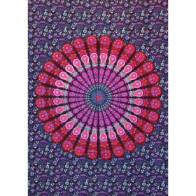 """Badmeri 03\"" mini hanging, Blue and Red"