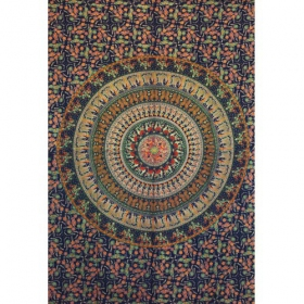 """Badmeri 4\"" hanging, Blue and orangish"