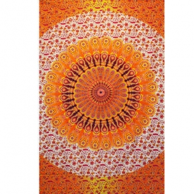 """Badmeri 40\"" hanging, Orangish and white"
