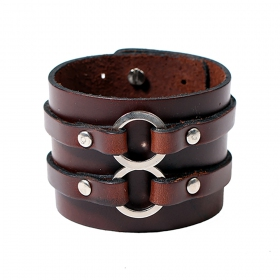 """Baldev\"" leather bracelet, Brown"