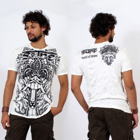"""Bali Dragon\"" T-shirt, White"