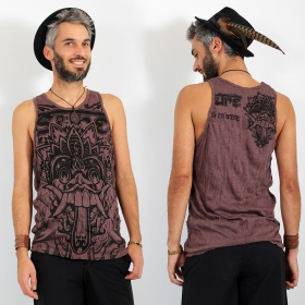 "\""Bali Dragon\\\"" tank top, Brown"