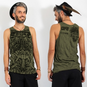 "\""Bali Dragon\\\"" tank top, Khaki"