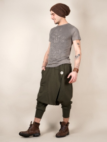 "\""Banilo\"" Gender neutral harem pants, Khaki green"