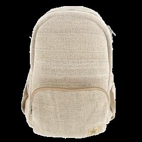 "\""Bara\"" backpack, sand hemp and cotton"