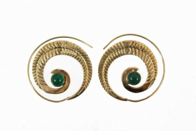 "\""Bavandar\\\"" earrings, Jade stone"