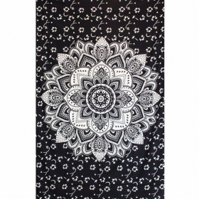 """Black Lotus\"" hanging, Black and white"