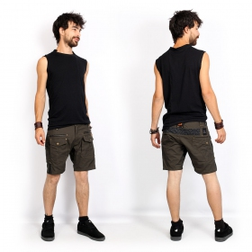 """Blended\"" sleeveless T-shirt, Black"