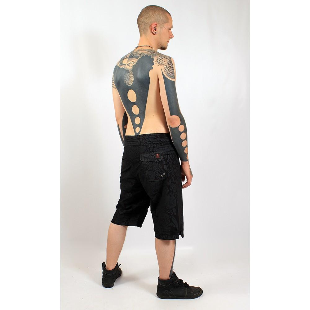 Boardshort gado gado, black