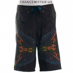 "Boardshort Public Beta \\\""Trancemitter UV\\\"", Black"