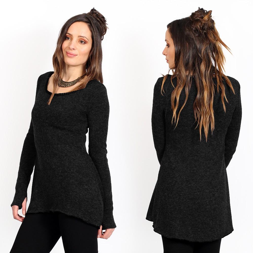 "\""Bohemian\"" pullover, Black"